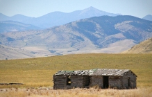 montana barn broken down falling apart cabin mountains dilapidated condemned