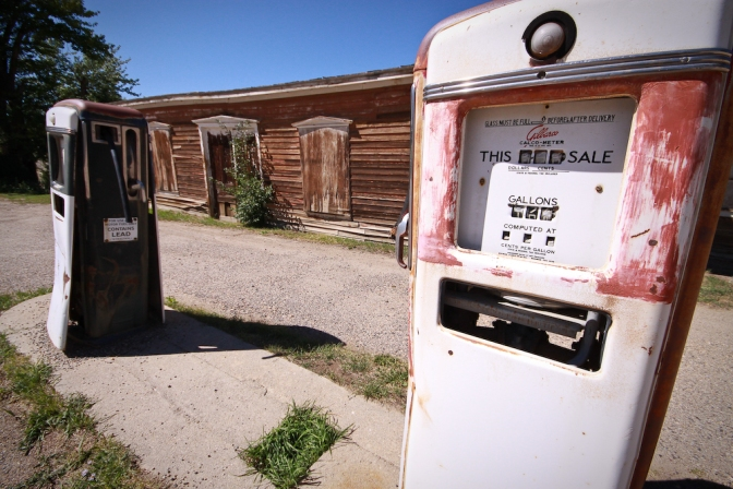 Gas Pumps, Virginia City, Montana