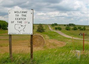 us geographic center lebanon kansas ks plains prairie grass landscape hay bale
