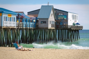 old orchard beach maine coast ocean atlantic waves sand tourist scenic prisitne