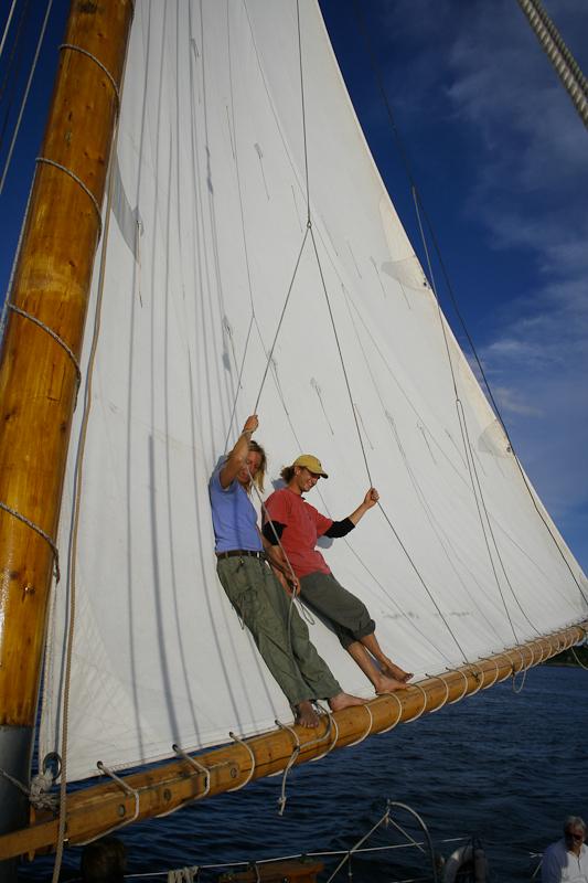 sail, sailboat, boat, ship, maine, lounge, recline, maritime, history, atlantic