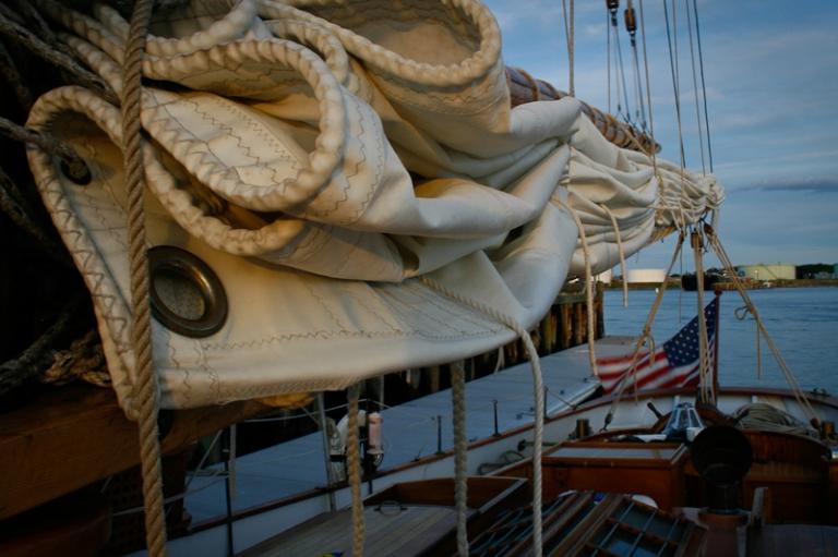sail, canvas, sailboat, boat, maine, ship, maritime, history, portland, atlantic