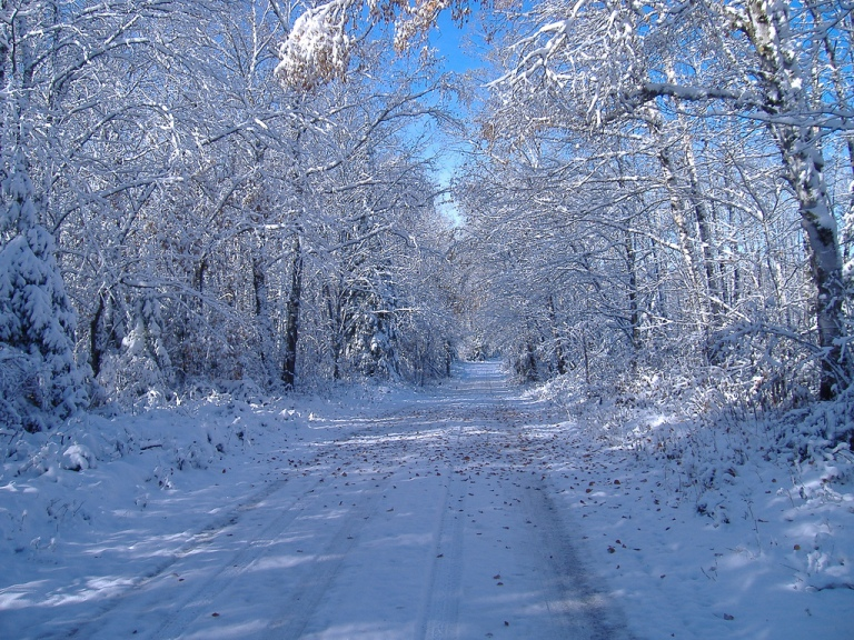 winter road drive driving snow ice bad conditions beautiful white