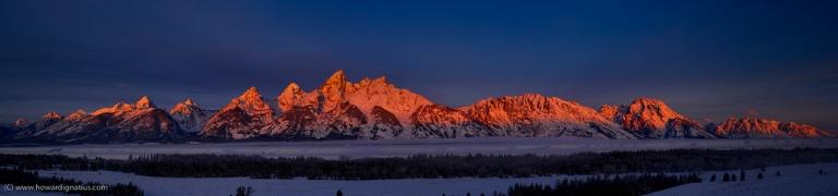 tetons, grand, mountains, sunrise, national, park, light, beauty, blue sky snow