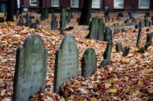 Granary Burying Ground in Boston cemetery graveyard