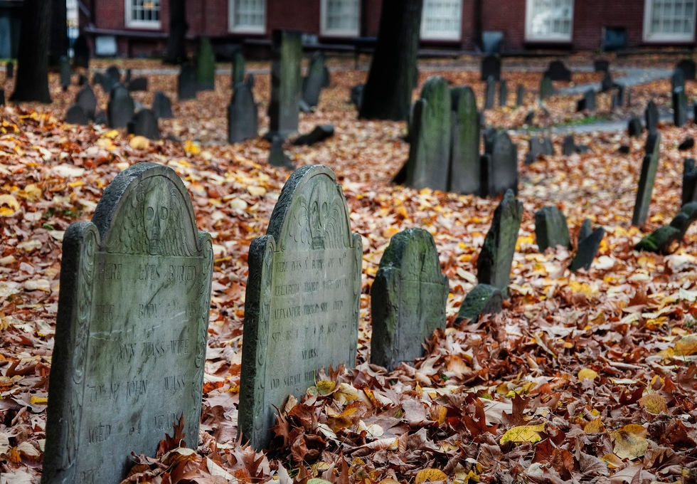 Granary Burying Ground in Boston cemetery graveyard
