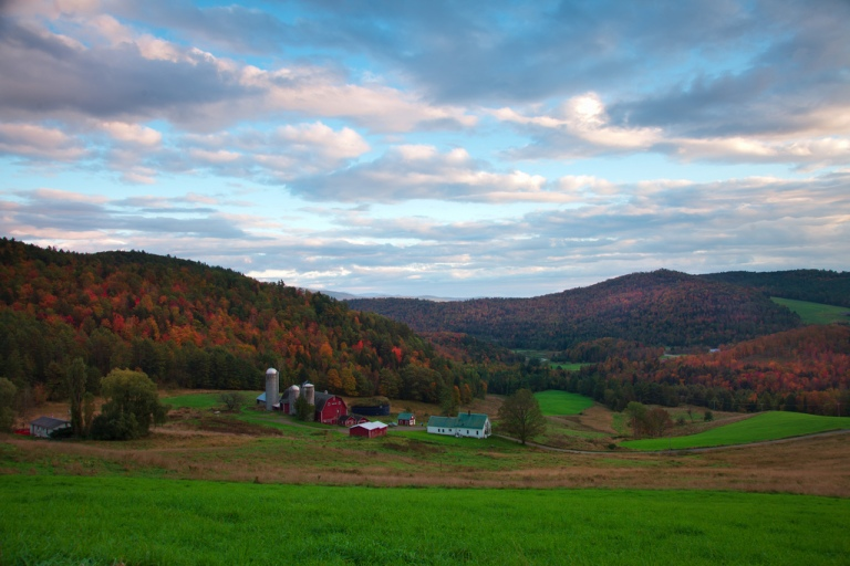 fall in vermont new england trees foliage autumn scenic Christopher Schoenbohm