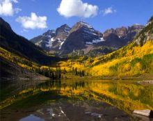 maroon bells aspen colorado fall foliage color scenic beauty