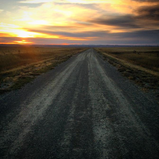 Gravel road, Acton, Montana.