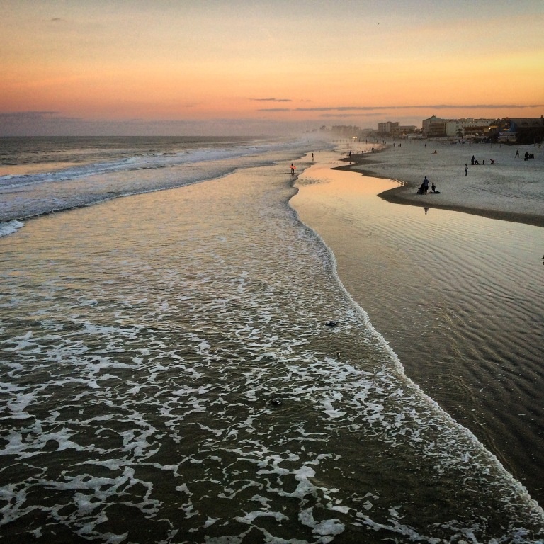 daytona beach sunset, travel