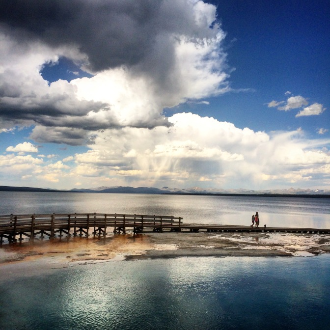 yellowstone national park, lake, geyser basin, travel